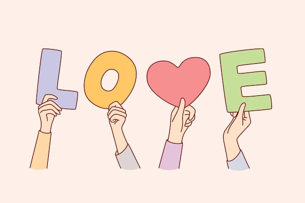 Concept de charité et d'amour