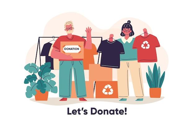 Concept de charité dessiné à la main