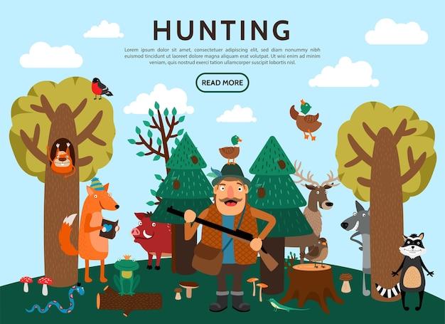 Concept de chasse plat