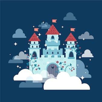Concept de château de conte de fées
