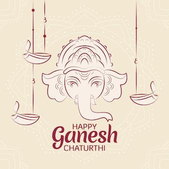 Concept de chaturthi plat ganesh