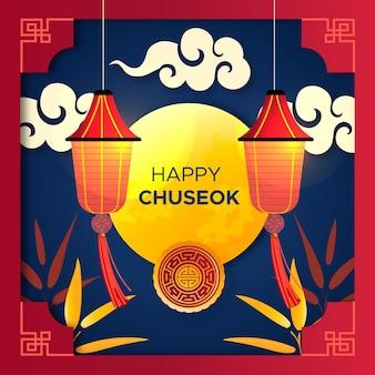Concept chuseok au design plat