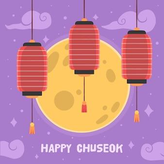 Concept de chuseok dessiné à la main