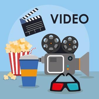Concept de cinéma avec le design d'icône