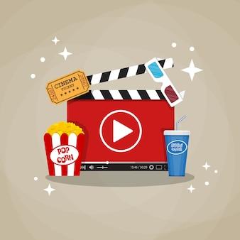 Concept de cinéma en ligne.