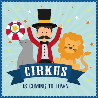 Concept de cirque avec la conception d'icône de carnaval, illustration vectorielle 10 eps graphique.