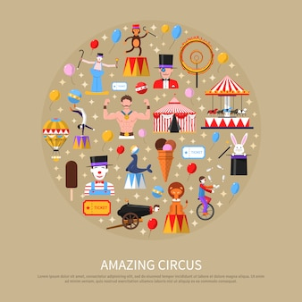 Concept de cirque incroyable