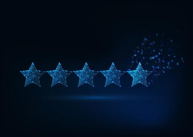 Concept de classement cinq étoiles.