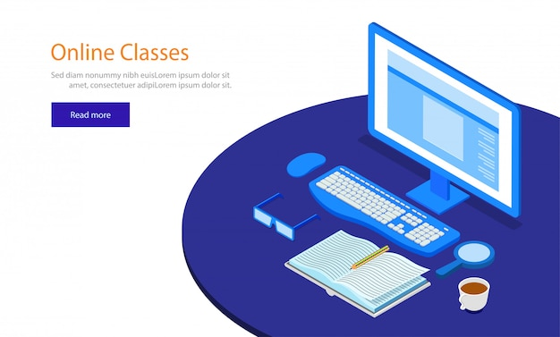 Concept de classes en ligne.