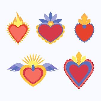 Concept de coeur sacré rouge
