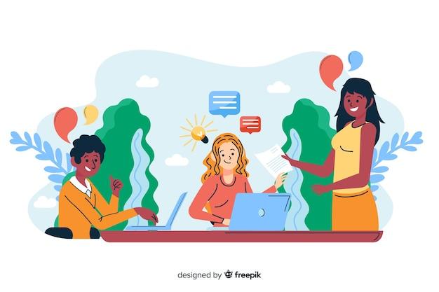 Concept de collaborateurs pour la page de destination