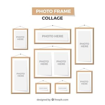 Concept de collage de cadre photo