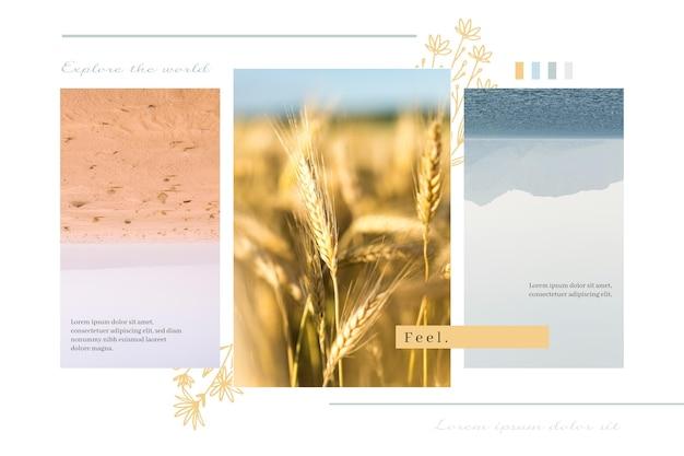 Concept de collage de photos