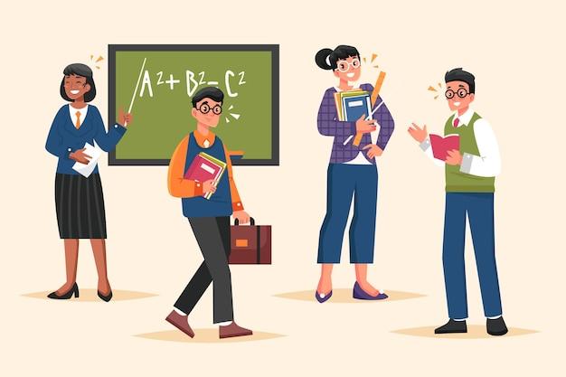 Concept de collecte des enseignants