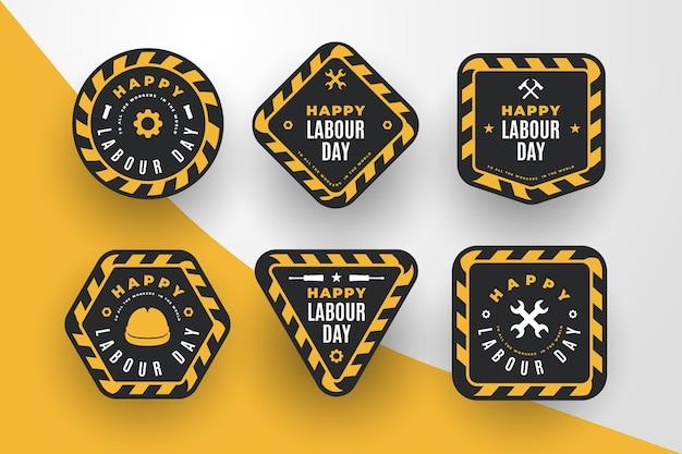 Concept de collecte d'étiquettes de la fête du travail
