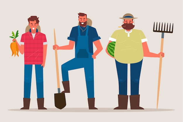 Concept de collection d'agriculteur