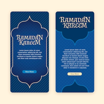 Concept de collection de bannière de ramadan