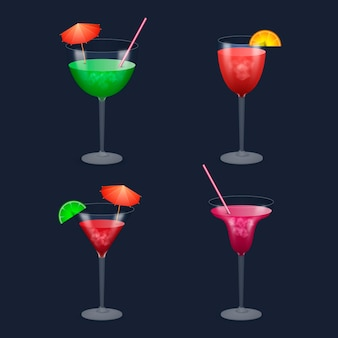 Concept de collection de cocktails