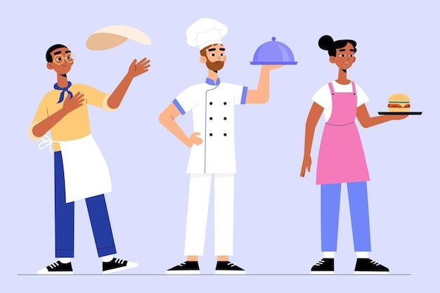 Concept de collection de cuisinier