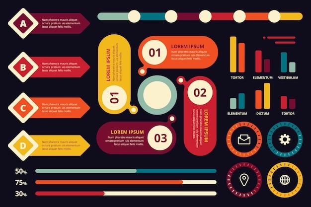 Concept de collection d'éléments infographiques