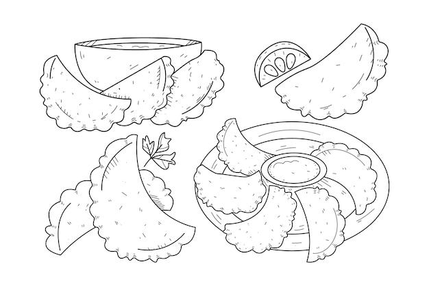 Concept de collection empanada