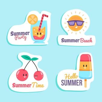 Concept de collection d'étiquettes d'été