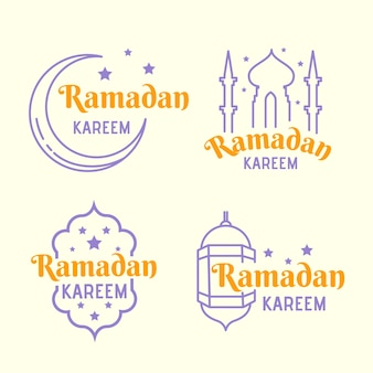 Concept de collection d'étiquettes de ramadan
