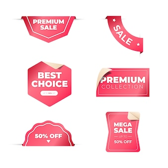 Concept de collection d'étiquettes de vente réaliste