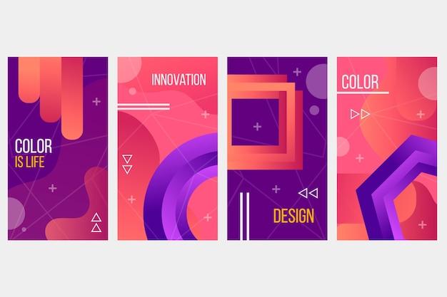 Concept de collection de formes de gradient abstrait