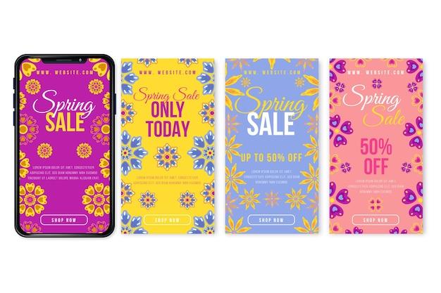 Concept de collection histoire instagram vente de printemps