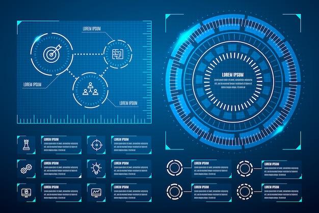Concept de collection infographique futuriste