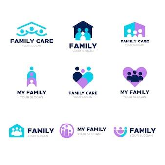 Concept de collection de logo familial