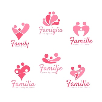 Concept de collection de logo familial