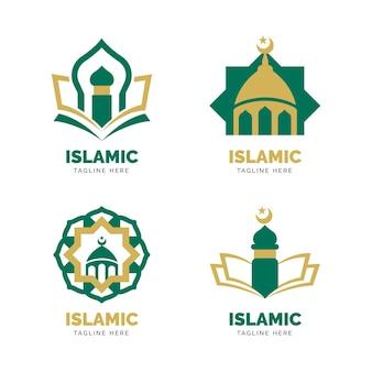 Concept de collection de logo islamique