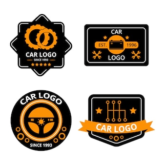 Concept de collection de logo de voiture design plat