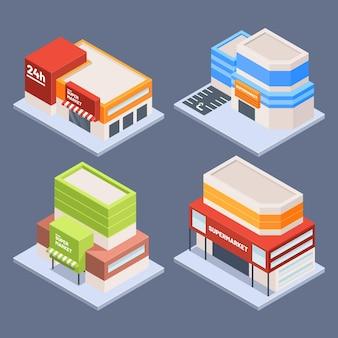 Concept de collection de magasin isométrique