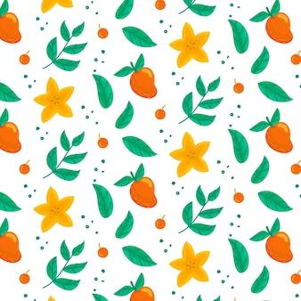 Concept de collection de modèle de fruits