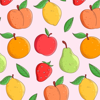 Concept de collection de modèle de fruits