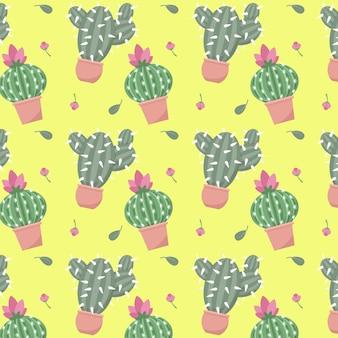 Concept de collection de modèles de cactus