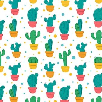 Concept de collection de motifs de cactus