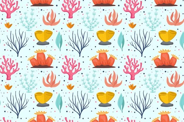 Concept de collection de motifs corail