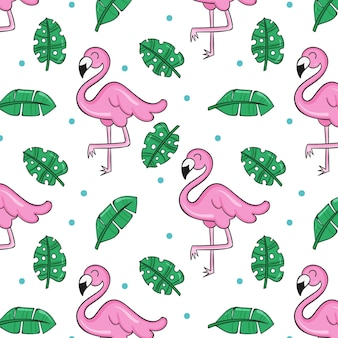Concept de collection de motifs de flamants roses