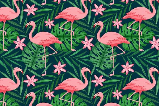 Concept de collection de motifs flamingo