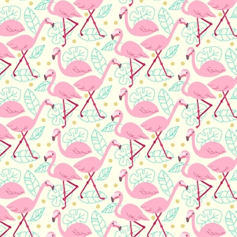 Concept de collection de motifs flamingo