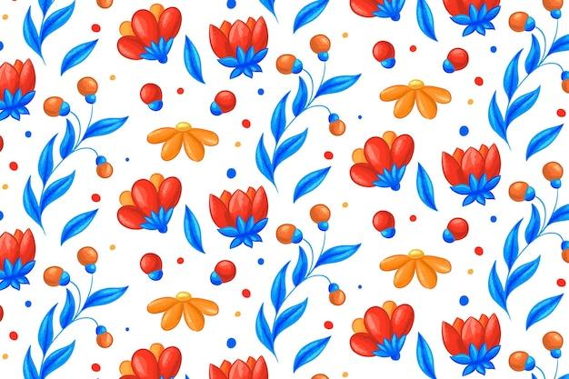 Concept de collection de motifs floraux