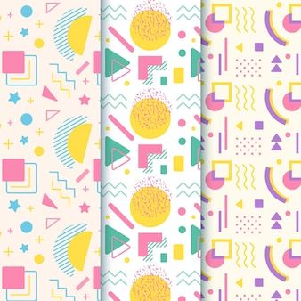 Concept de collection de motifs memphis