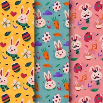 Concept de collection de motifs de pâques design plat