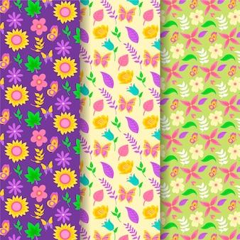 Concept de collection de motifs de printemps dessinés à la main