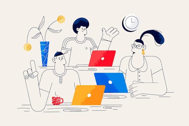Concept de collègues pour la page de destination