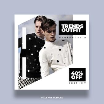 Concept coloré coloré accrocheur social minimal instagram modèle de publication publicitaire